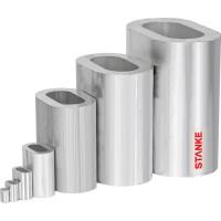 Vorschau: Alu Pressklemme 1 – 16 mm Drahtseilklemme Alu Presshülse