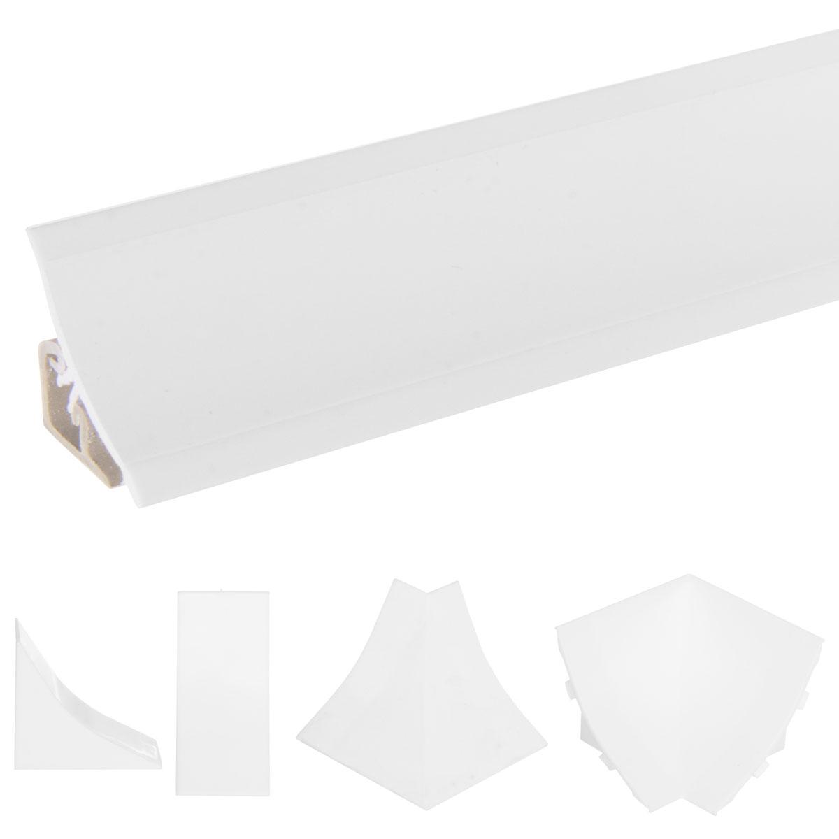 abschlussleiste küche arbeitsplatte küchenleiste - weiss | jumbo-shop