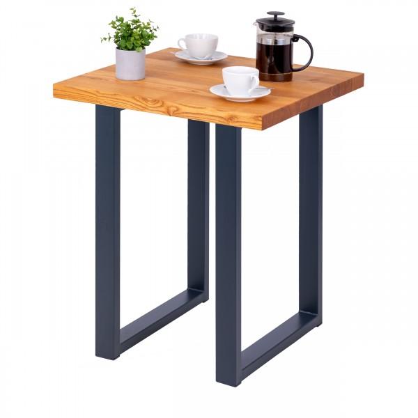 Kompakter Küchentisch mit gerader Tischkante 60x60x76 cm (LxBxH)