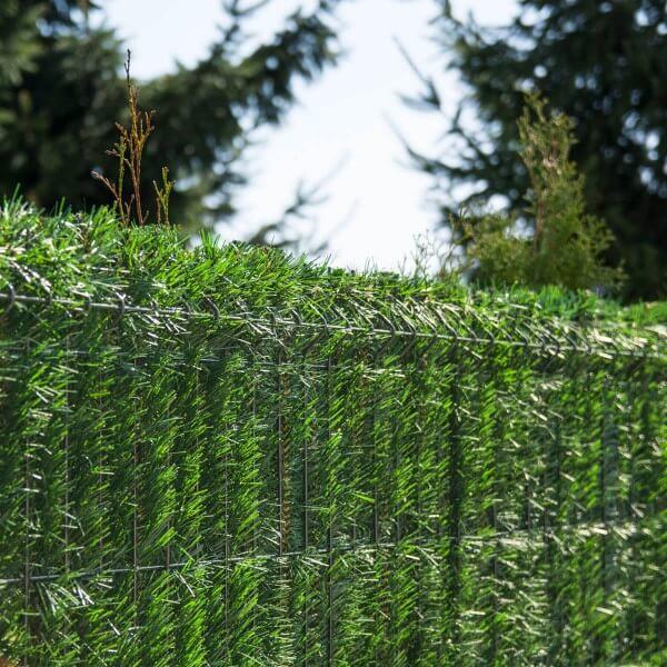 """Zaunblende Hellgrün """"GreenFences"""" Balkonblende für 180cm hohen Zaun / Balkon Sichtschutz Pflanzen"""