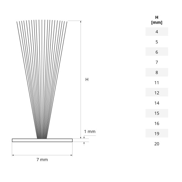 Bürstendichtung WEISS 4mm-20mm Türbürste selbstklebend