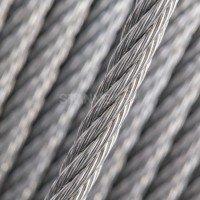 Vorschau: 16mm Stahlseil verzinkt Drahtseil EN 12385-4 Stahlseile