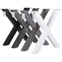 Vorschau: X-Tischbein aus Vierkantprofilen 80x80 mm, Tischkufen X Gestell Industriedesign, 1 Stück, HLT-03-J