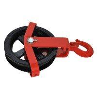 Vorschau: 125 – 180 mm Umlenkrolle mit Haken Seilzug Windenrolle Flaschenzug