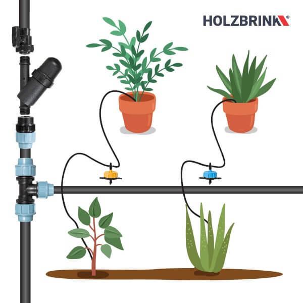 Bewässerungssystem Micro-Drip-System Tropfbewässerung Bewässerungsset 1