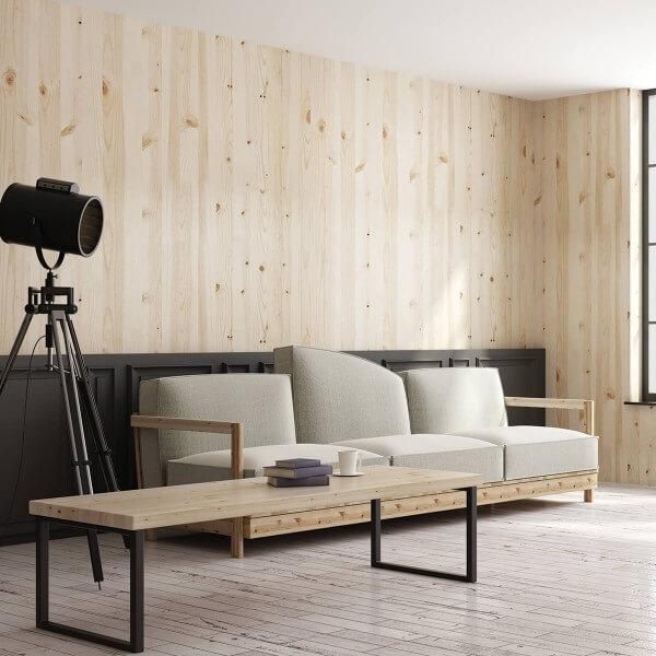 HOLZBRINK Tischkufen aus Vierkantprofilen 80x20 mm HLT-01-C-II-0000 1 St/ück Rohstahl mit Klarlack Tischgestell 50x72 cm