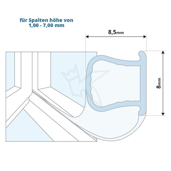 Silikondichtung Omegadichtung SFD01 OMEGA-Profil Dichtung