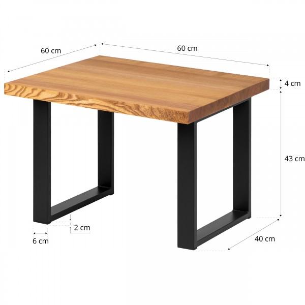 Couchtisch Massivholz Beistelltisch Wohnzimmertisch 60x60x47 cm