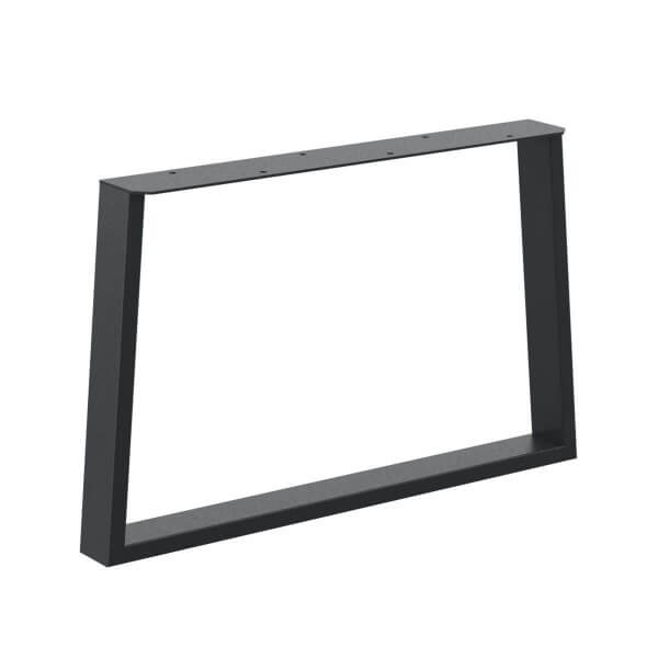 Design Tischkufen Trapez Vierkantprofile 60x30 mm, trapezförmiges Tischgestell, Tischbeine HLT-17-D