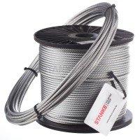 Vorschau: 14mm Stahlseil verzinkt Drahtseil EN 12385-4 Stahlseile