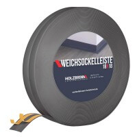 Vorschau: Weichsockelleiste selbstklebend DUNKELGRAU Knickleiste Profil 18x18mm