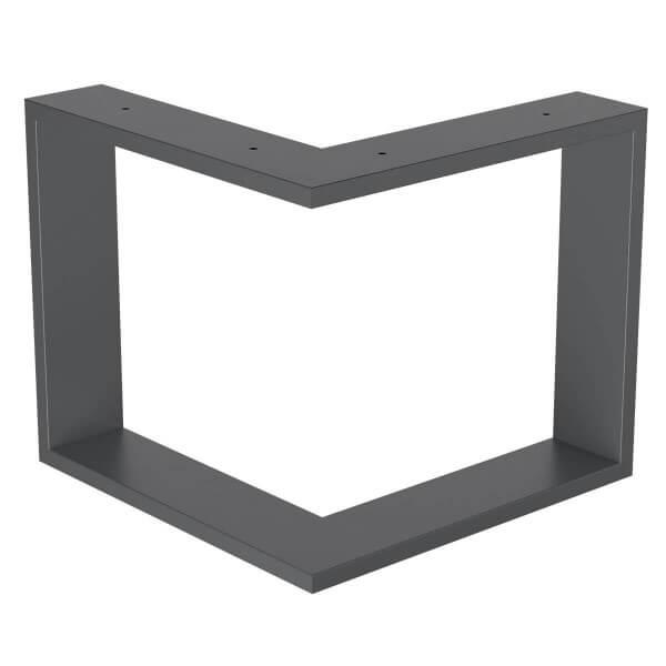 Design Tischkufen aus Vierkantprofilen 80x20 mm, V-Form, L-Form, Tischgestell, Tischbeine HLT-09-C