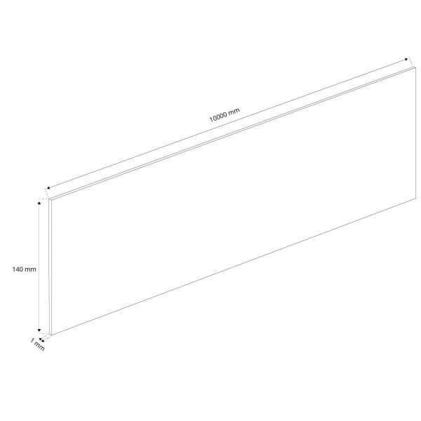 Flexibles PVC 10m Band ohne Anker Rasenkante Wurzelsperre