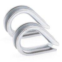 Vorschau: Rankhilfe Seilsystem SET 2: Stahlseil verzinkt + 4x Kausche + 8x Seilklemme