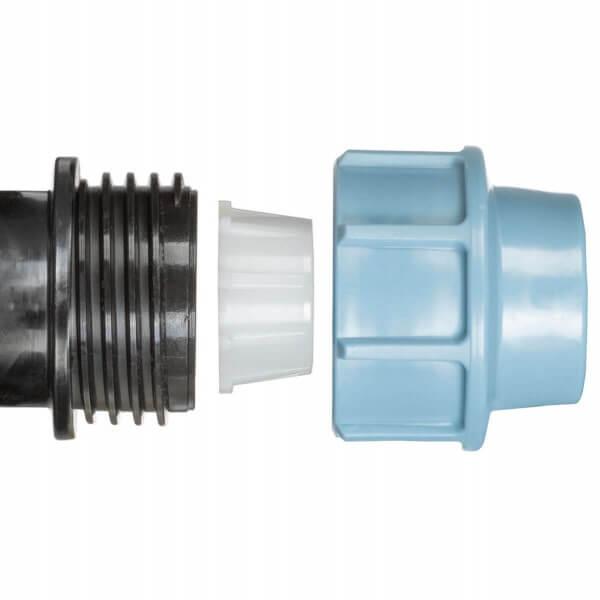 Verbindungsstück 1 x 1 Zoll 25 mm Rohrverbinder für Rohrverlängerungen des Tropfschlauchs