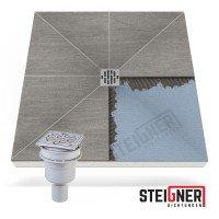 Vorschau: befliesbares Duschelement Punktablauf Duschboard SENKRECHT MINERAL PLUS