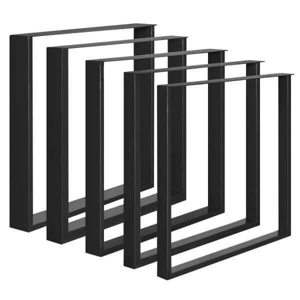 Design Tischkufen aus Vierkantprofilen 60x20 mm und Flacheisen 3 mm, Tischgestell, 1 Stück, HLT-02-E