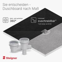 Vorschau: befliesbares Duschelement Duschboard mit Punktablauf WAAGERECHT MINERAL BASIC