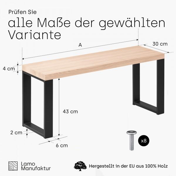 Massivholzbank für Ihr Esszimmer, Sitzbank Flur