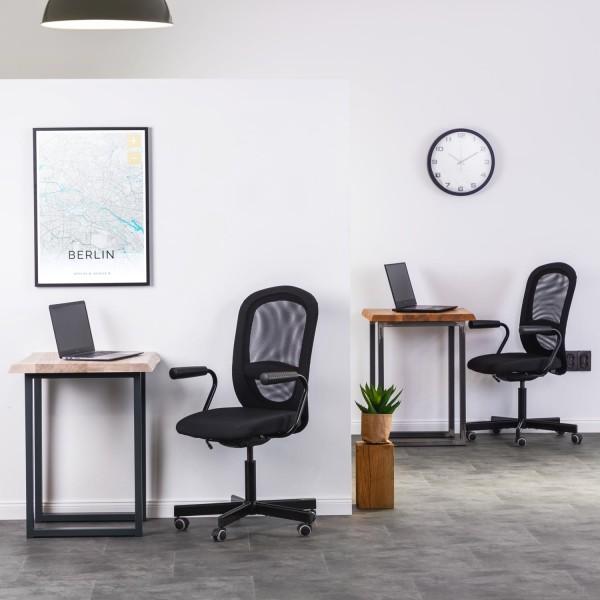 Kleiner Esstisch oder Schreibtisch mit Baumkante (60x60x76)