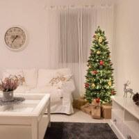 Vorschau: Ø 8 cm Weihnachtskugeln für Weihnachtsbaum SILBER - 6er-Pack