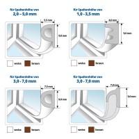 Vorschau: Fensterdichtung Gummidichtung D-Profil selbstklebend braun