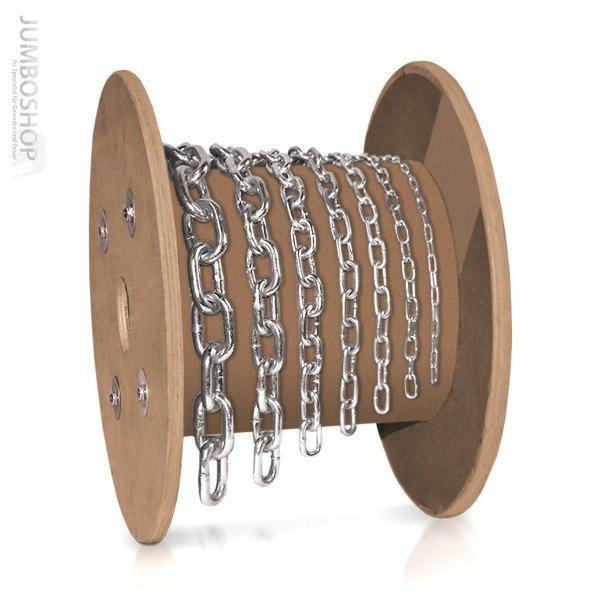 4mm Stahlkette Rundstahlkette Stahlkette KURZGLIEDRIG verzinkt