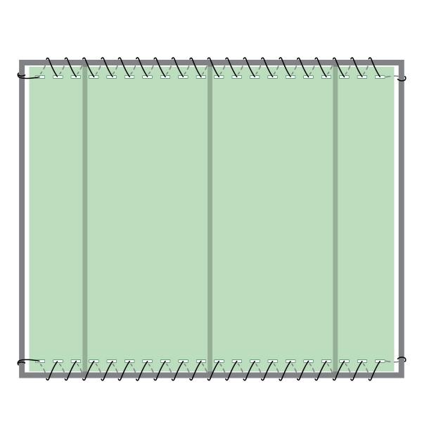 Schattiernetz inkl. Befestigungsmaterial, Dunkelgrün, Zaunblende, Windschutznetz HZB-01