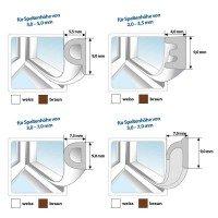 Vorschau: Fensterdichtung Gummidichtung selbstklebend braun V-Profil