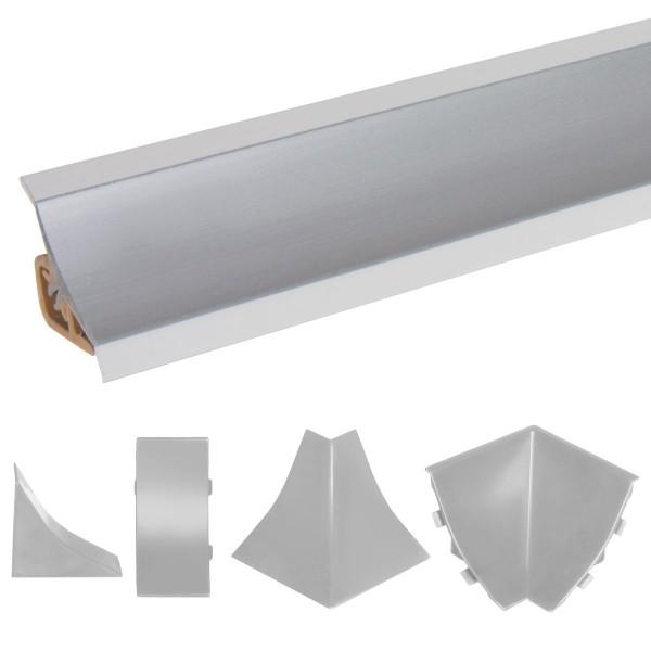 Küchenleiste 23x23mm Abschlussleiste Küche Arbeitsplatte - 610 Aluminium