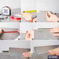Vorschau: Küchenleiste 23x23mm Abschlussleiste Küche Arbeitsplatte - 639 Granit dunkel