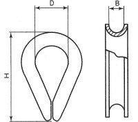 Vorschau: Kauschen 14mm Drahtseil Kausche Seilöse Seil mit Öse Stahlseil