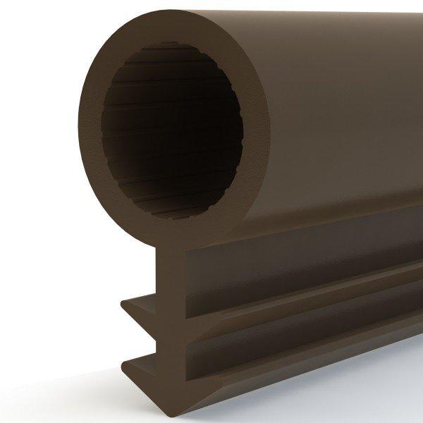 Türdichtung SCHLAUCHDICHTUNG Türgummi 6mm STD02 BRAUN Universal Dichtband Zimmertürdichtung