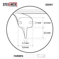 Vorschau: Abdichtung Dusche SDD01 Silikon Dichtprofil Badewanne