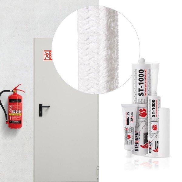 Dichtschnur Kermaikfaser SKD01 Brandschutztür Stahltür Dichtung + Montagekleber