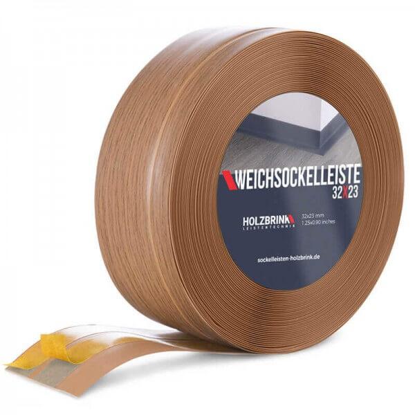 Weichsockelleiste selbstklebend EICHE HELL Knickleiste Profil 32x23mm