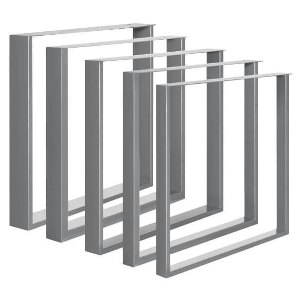Design Tischkufen aus Vierkantprofilen 80x20 mm und Flacheisen 3 mm, Tischgestell, 1 Stück, HLT-02-C