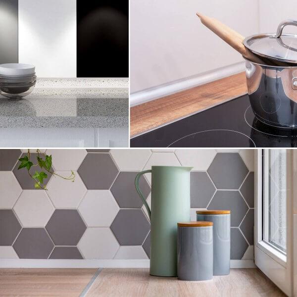 Küchenleiste 23x23mm Abschlussleiste Küche Arbeitsplatte - 610 Vollaluminium