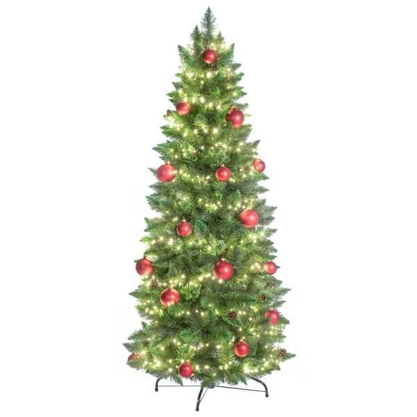 k nstlicher weihnachtsbaum slim kiefer natur gr n jumbo shop. Black Bedroom Furniture Sets. Home Design Ideas