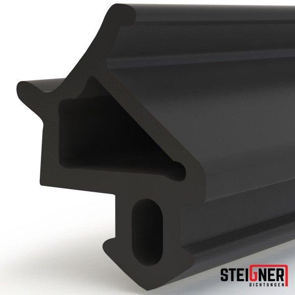 1m Fensterdichtung schwarz SFD12-S Gummidichtung TPE Dichtung Fenster Tür