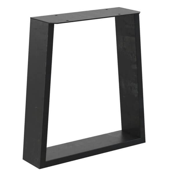 Design Tischkufen Trapez Vierkantprofile 100x20 mm, trapezförmiges Tischgestell, Tischbeine HLT-17-A