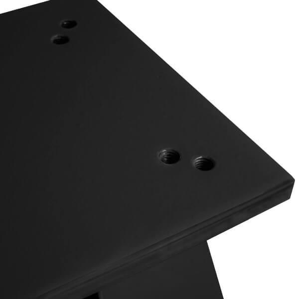 Bodenhülse mit Montageplatte für Ampelschirm Sonnenschirm RAL 9005 Tiefschwarz