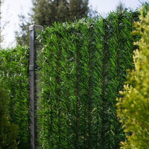 """Zaunblende Dunkelgrün """"GreenFences"""" Balkonblende für 120cm hohen Zaun / Balkon Sichtschutz Pflanze"""