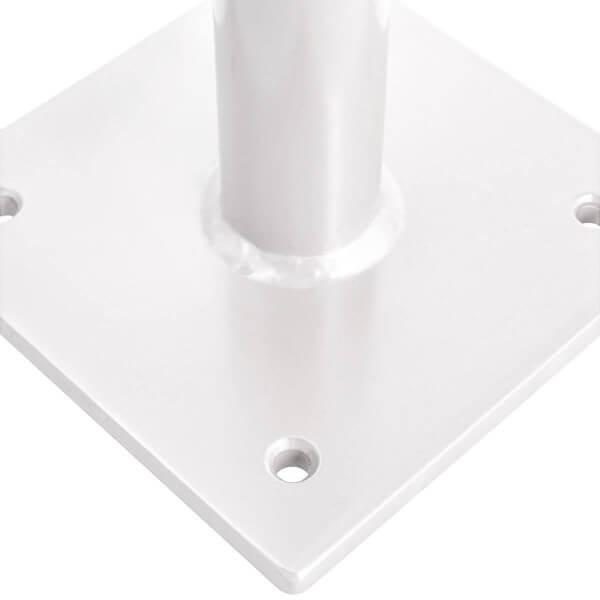 Sonnenschirmständer für Bodenhülse Innendurchmesser 55 mm Verkehrsweiss