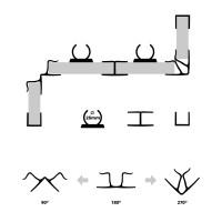 Vorschau: Sockelblende Küche Sockelleiste - WEISS Hochglanz - HBK Küchensockel Sockelprofil Sockelabdichtung