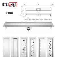 Vorschau: Ablaufrinne SDR90 Siphon Rinne Duschrinne Edelstahl Abflussrinne Duschelement