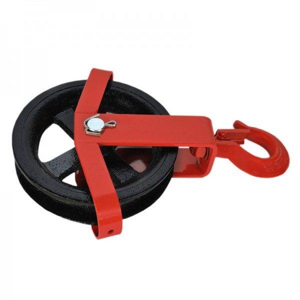125 – 180 mm Umlenkrolle mit Haken Seilzug Windenrolle Flaschenzug