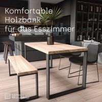 Vorschau: Massivholzbank für Ihr Esszimmer, Sitzbank Flur