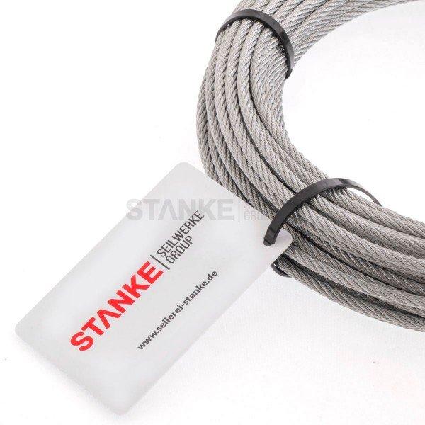 Rankhilfe Seilsystem SET 3: Stahlseil verzinkt + 8x Kausche + 16x Seilklemme