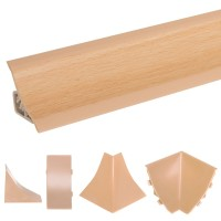 Vorschau: Küchenleiste 23x23mm Abschlussleiste Küche Arbeitsplatte - 641 Buche